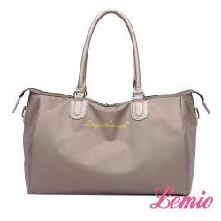 【Lemio】韓版時尚防潑水牛津布梯形兩用單肩包