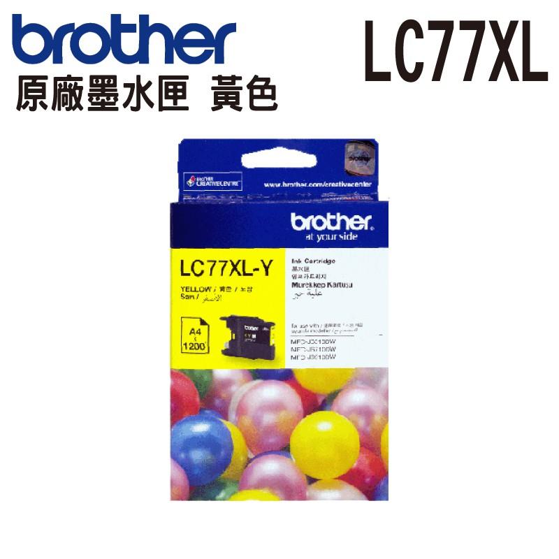 Brother LC77XL Y 黃色 原廠盒裝墨水匣