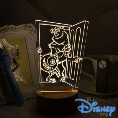 R.A Design 3D LED 小夜燈 美國設計師 怪獸電力公司 【原價1280元】 迪士尼 日本 東京 大眼 毛怪