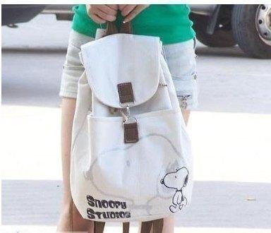 中學生書包帆布包包女包潮日系韓版雙肩包學院風背包SNOOPY史努比休閒包雙肩背包後背包