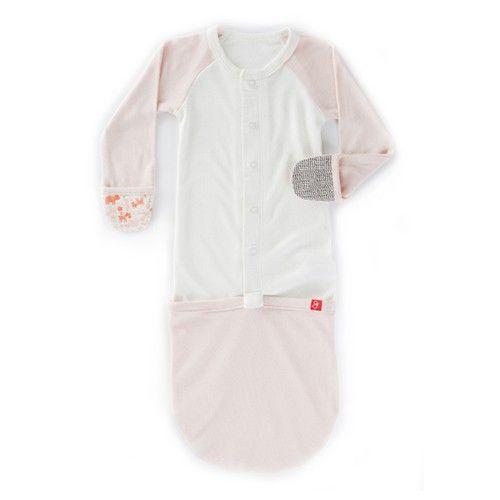 美國 GOUMIKIDS - 有機棉嬰兒睡袍-叢林動物-橘色 (0-6m)