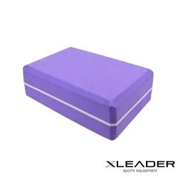 Leader X  環保EVA高密度雙色夾心瑜珈磚 紫色
