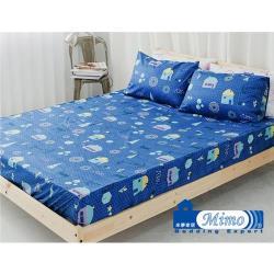 米夢家居-原創夢想家園-台灣製造100%精梳純棉單人3.5尺床包兩件組(3色)