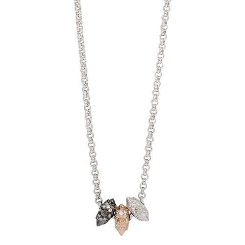apm MONACO法國精品珠寶 閃耀銀色鑲鋯 Hérisson項鍊 AC4308XTRH