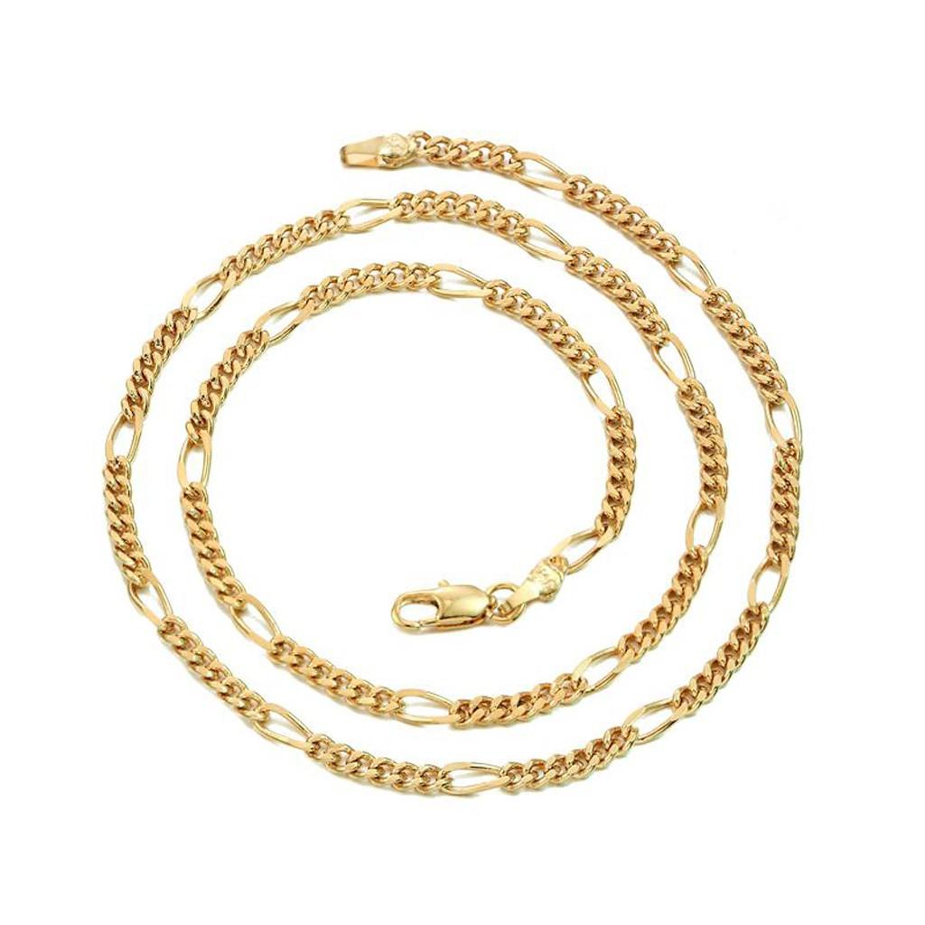 六六大順 寬0.3 長45公分 金項鍊 鍍18K金色 抗過敏 防退色 仿金項鍊 艾豆『D3107』