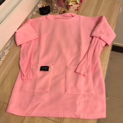 基本款修身純色長袖T恤長版上衣(999/M-XL號)