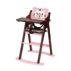 傢俱屋 悠加韓式巧虎折合寶寶椅 粉 胡桃