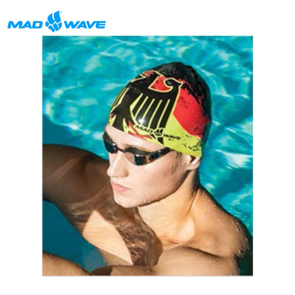 俄羅斯MADWAVE成人矽膠泳帽 GERMANY 送Barracuda矽膠耳塞