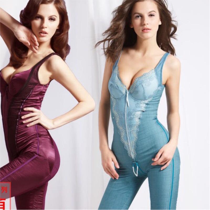 【K's凱恩絲】水晶網紗系列有罩杯連身大腿膝上款塑身衣-超值3件組(多國專利認證)