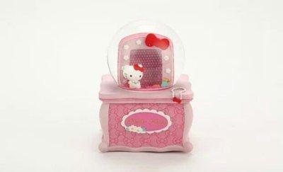限時特價 JARLL讚爾hello kitty梳妝台相框音樂盒 音樂鈴 水晶球 雪球擺飾