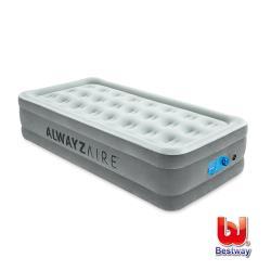 Bestway Twin單人新布面加高AC自動/智能充氣床-白 67623