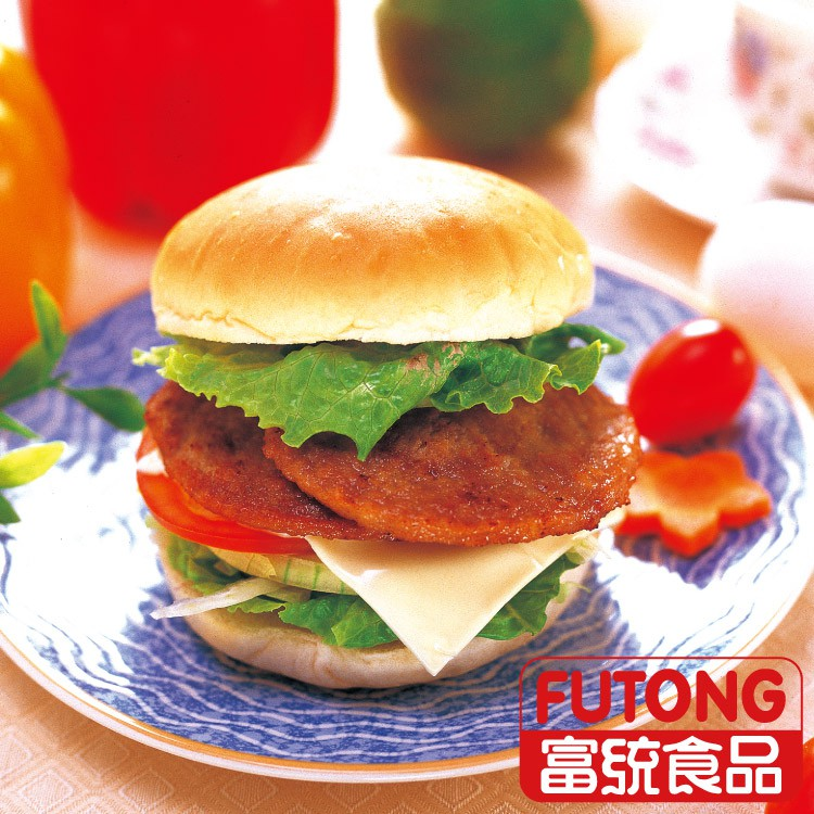 【富統食品】豬肉漢堡排 (40g/片;20片/包)