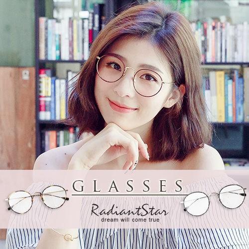 韓國復古甦醒細邊金屬圓框平光眼鏡【G009】璀璨之星