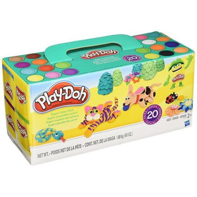 小丸子媽媽 培樂多Play-Doh 繽紛20色黏土組 黏土 A7924 孩之寶 Hasbro 創意DIY 培樂多黏土