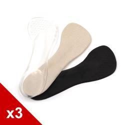 糊塗鞋匠 優質鞋材 C182 矽膠減壓七分墊(3雙)