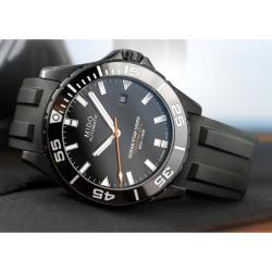 MIDO 美度 Ocean Star 海洋之星深潛600米陶瓷潛水錶-鍍黑 M0266083705100