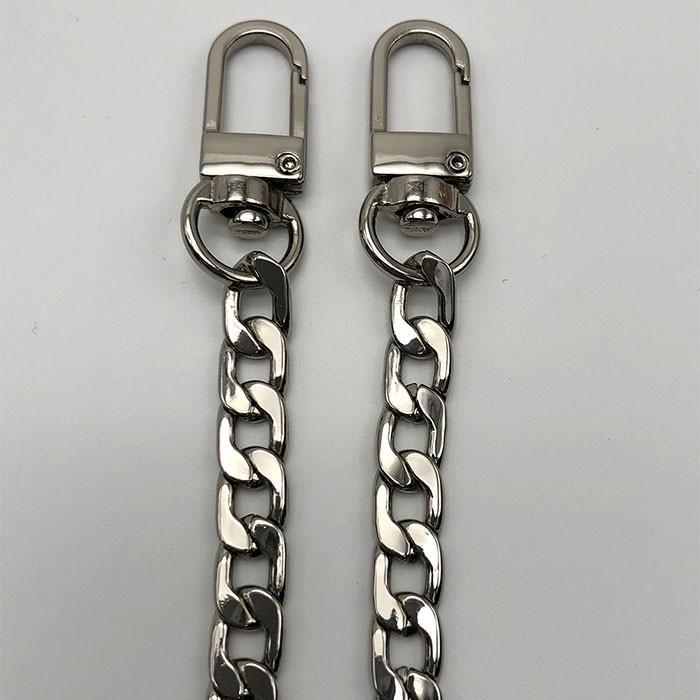【L.Elegant】高檔金属扁鏈包包鏈條配件(110cm)_銀色C2