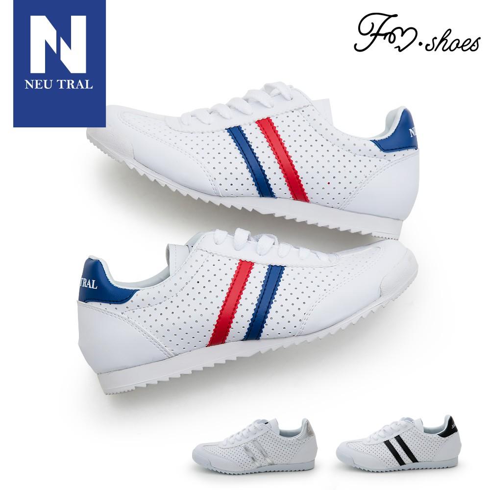 【FMSHOES】NeuTral-雙斜紋洞洞感繫帶休閒鞋-情侶款-12020223