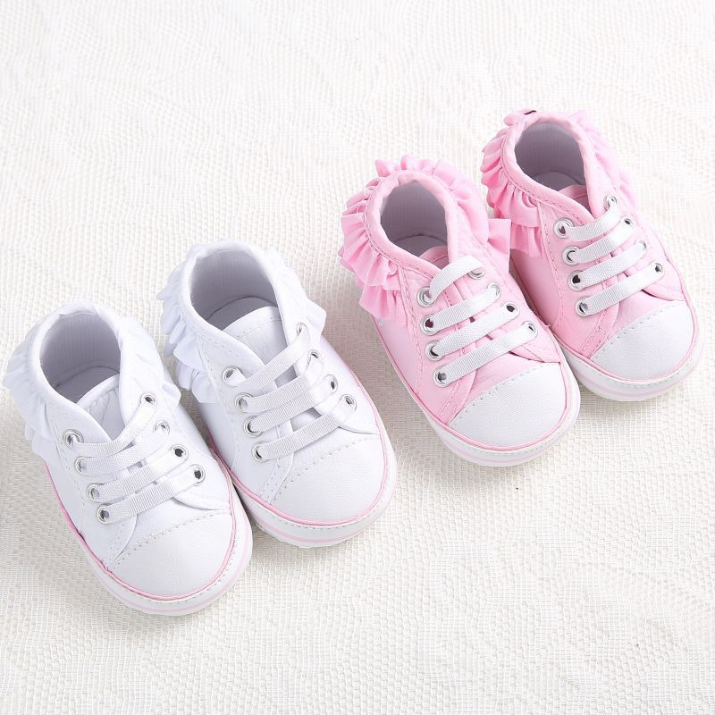 時尚經典不耳邊邊可愛公主休閒學步鞋 白色【IU貝嬰屋】