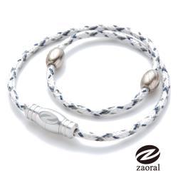 《Zaoral》甦活磁石項圈-白/銀WH/SI (L號)