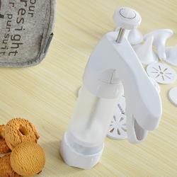 白色家用直立式奶油擠花器/餅乾器