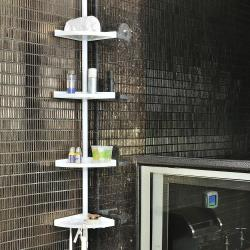 【HR安室家】頂天立地衛浴四層置物架-TS104
