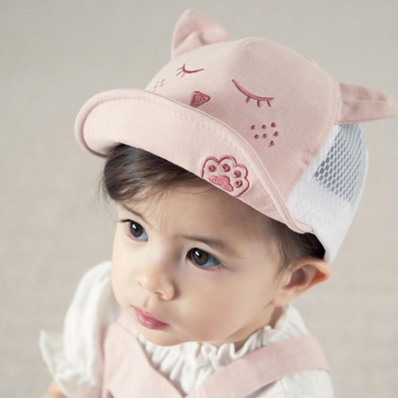 寶寶眯眼耳朵網帽【IU貝嬰屋】