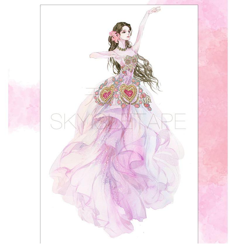 【駿隴】天空島 一生所愛 古代 少女 跳舞 舞技 渲染 裝飾 和紙膠帶 紙膠帶