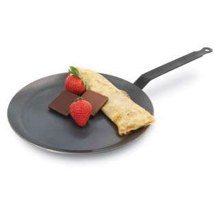 【GUSTO】26cm碳鋼無塗層法式薄餅淺底煎盤