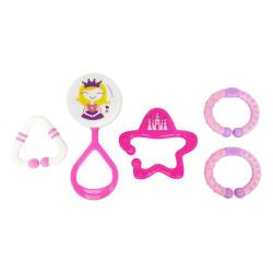 Lucky Baby 五件式搖鈴玩具-公主系列