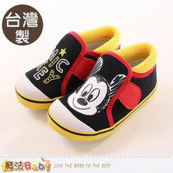 魔法Baby 童鞋 台灣製米奇正版帆布鞋~sh9910