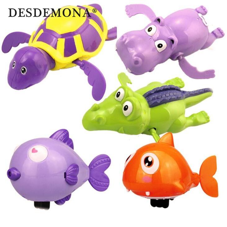洗澡玩具 兒童卡通發條小玩具上鍊游水烏龜會游泳寶寶戲水洗澡玩具 兒童玩具母婴