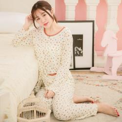 lingling日系 小熊香菇牛奶絲二件式睡衣組(全尺碼)