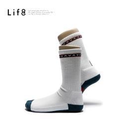 Life8-Sport 民族條紋運動防護氣墊底 除臭長筒襪-05407