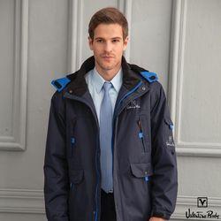 Valentino Rudy范倫鐵諾.路迪-防水透氣連帽機能外套-丈青+寶藍
