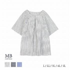 綿100%後ろリボンブラウス【LL~5L】