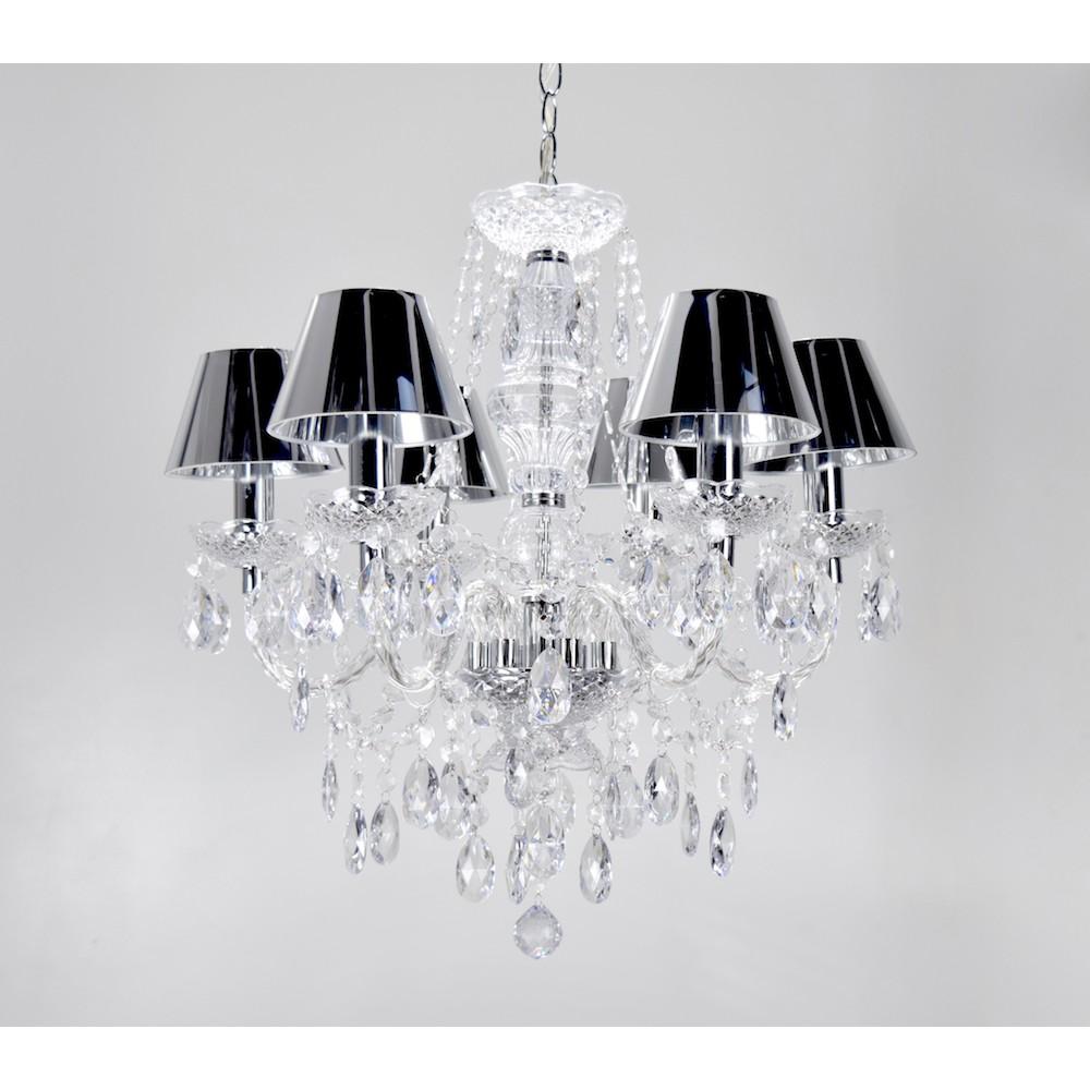 現代典雅6燈鏡面PVC罩吊燈-BNL00099