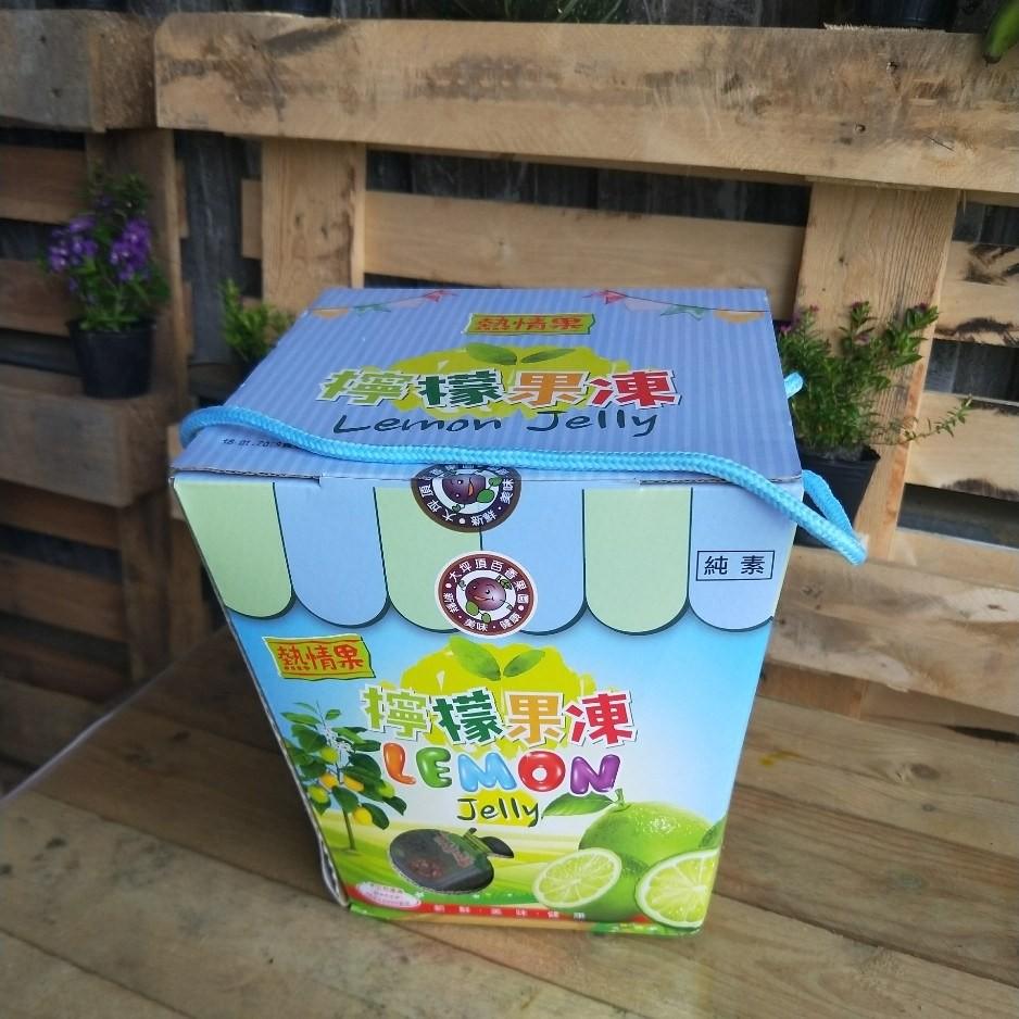 檸檬果凍(3公斤/手提禮盒)不含色素, 檸檬原汁製成,酸酸甜甜好滋味,送禮最適合。【豐產香菇行】