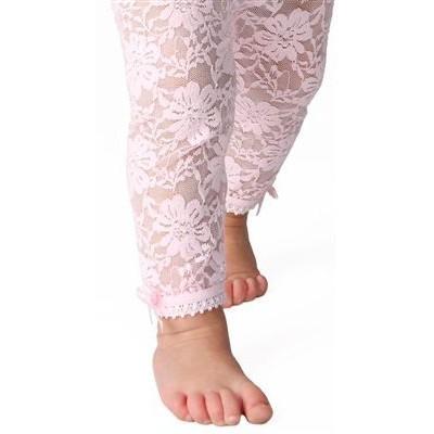 美國 Baby Emporio 造型棉襪 蕾絲緊身褲 嬰兒褲襪 粉紅色 6-12M 12-18M【YODEE優迪嚴選】