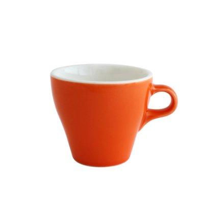 日本ORIGAMI 摺紙咖啡陶瓷 拿鐵杯 250ml (柑橘色)