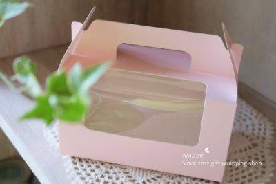 AM好時光【M30】透明開窗 西點禮品手提盒 附2格內托❤婚禮小物 布丁杯子 糖霜藝術蛋糕餐盒 烘焙點心 手工餅乾袋