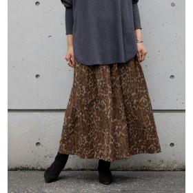 【リエス/Liesse】 レオパードプリントスカート