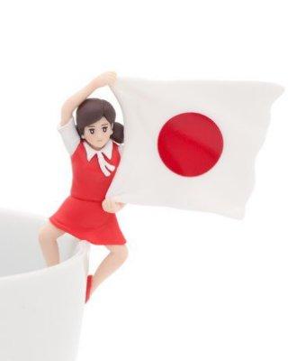 【一手動漫】現貨 日本正版 代理 轉蛋 杯緣子造型裝飾 杯子女孩 杯緣女孩 日本篇 單售 日本國旗