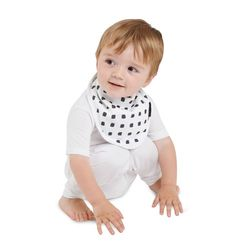 【Mum 2 Mum】雙面竹纖維棉機能口水巾圍兜-水彩方塊/星星
