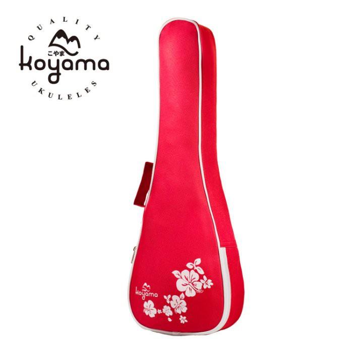【全館折300】Koyama 扶桑花 烏克麗麗袋 烏克麗麗背袋 烏克麗麗琴袋 21吋烏克麗麗專用 紅色