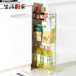 【生活采家】台灣製#304不鏽鋼廚房12cm小細縫架#27116