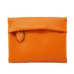 Sun peache釘扣式短夾錢包-PH22056橙色