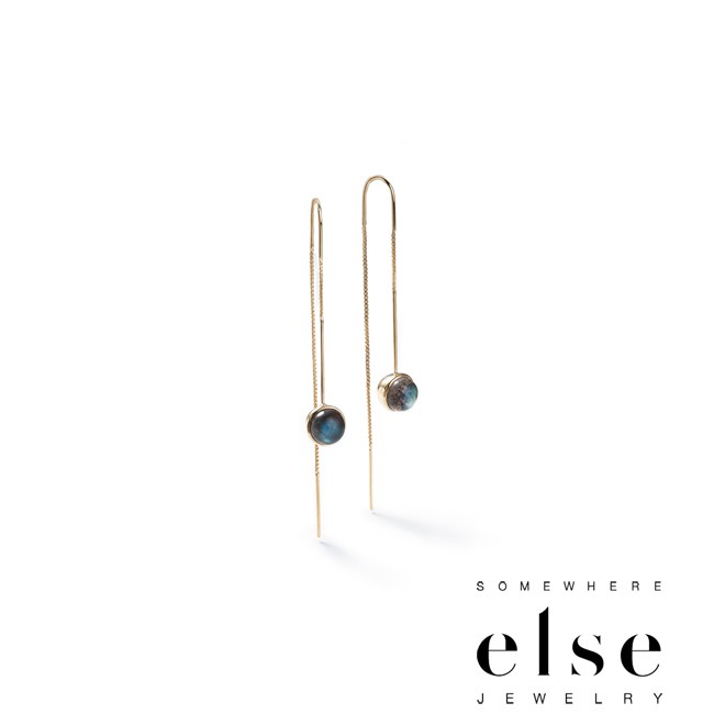 【SOMEWHERE ELSE】BRINK Ball and Chain Threader Earrings耳環