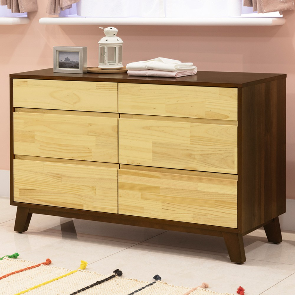 YoStyle 摩卡六斗櫃 實木 櫥櫃 抽屜櫃 收納櫃 置物櫃 專人配送安裝