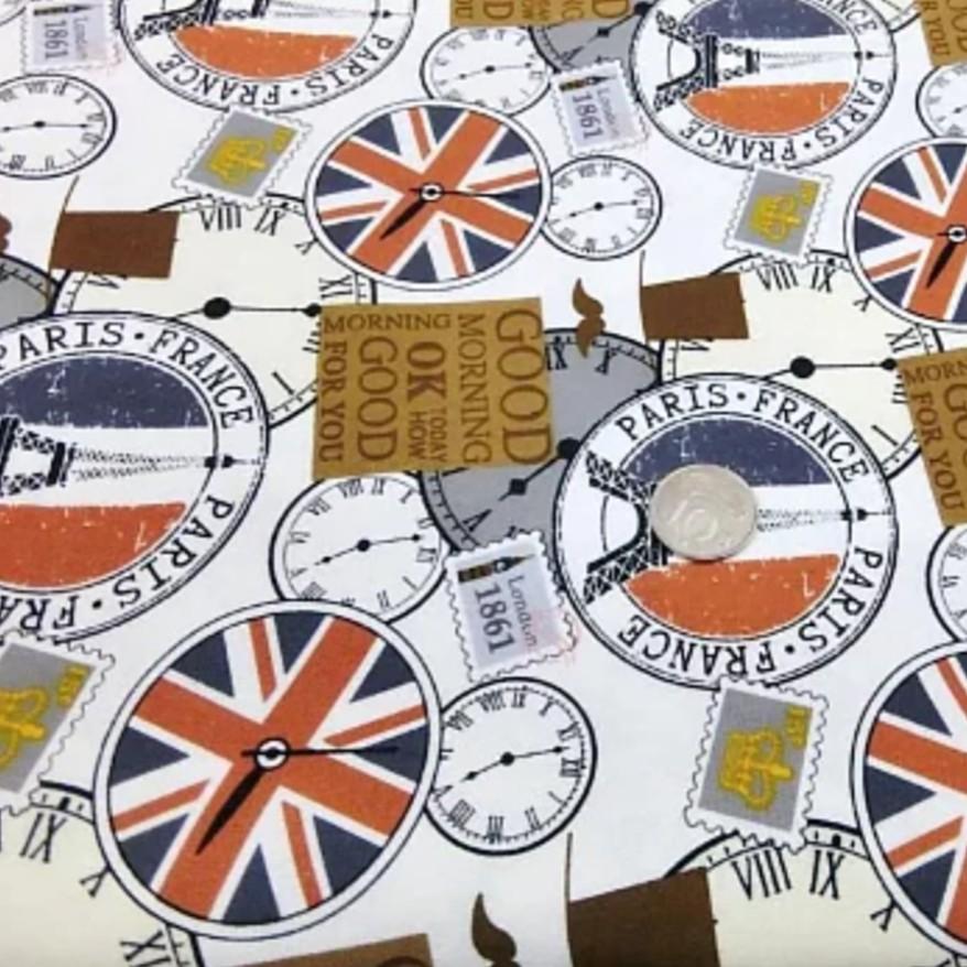 促銷-厚棉布-紳士鐘錶